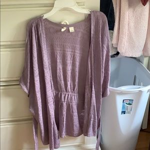 Anthropologie/Moth Small Lavender Wrap Cardigan